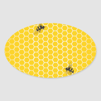 Honeycomb Oval Sticker