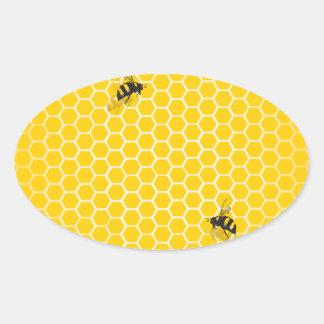 Honeycomb Oval Sticker