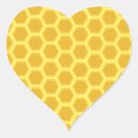 Honeycomb Pattern Heart Sticker