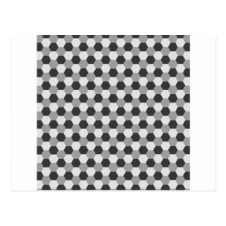 Honeycomb pattern postcard