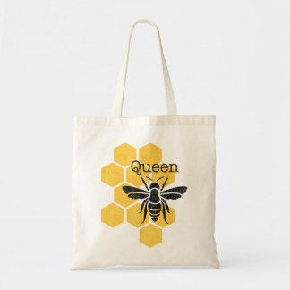 Honeycomb Queen Bee Tote Bag