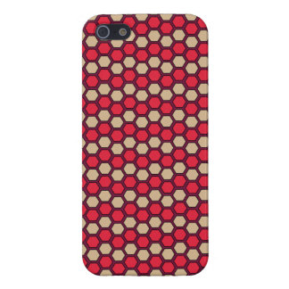 Honeycomb Red and White Retro Pattern Case For iPhone SE/5/5s