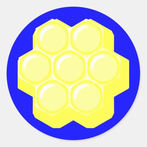 honeycomb. round stickers