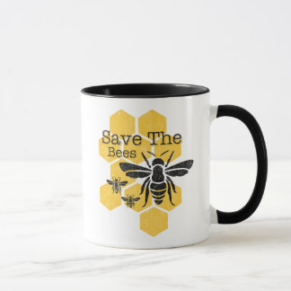 Honeycomb Save The Bees Mug