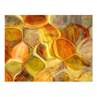 honeycomb scales abstract art postcard