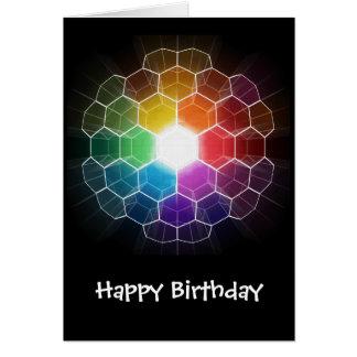 Honeycomb Spectrum Greeting Card