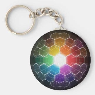 Honeycomb Spectrum Key Chains