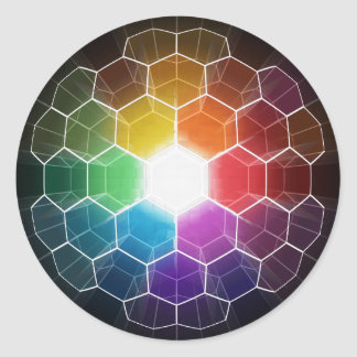 Honeycomb Spectrum Round Stickers