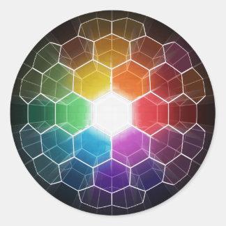 Honeycomb Spectrum Classic Round Sticker
