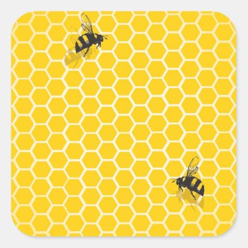 Honeycomb Square Sticker