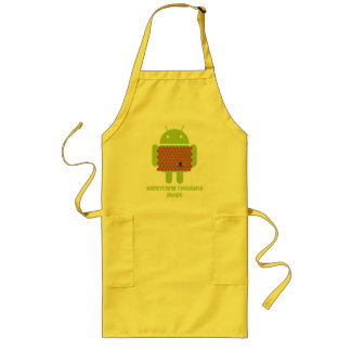 Honeycomb Thoughts Inside (Android Bug Droid Bee) Long Apron