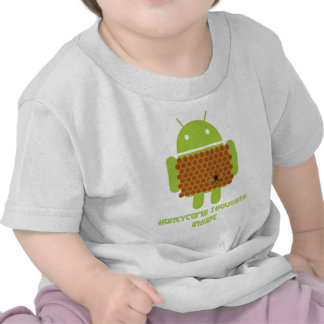 Honeycomb Thoughts Inside (Android Bug Droid Bee) T Shirts