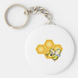 Honeycomb with a cute honeybee keychain