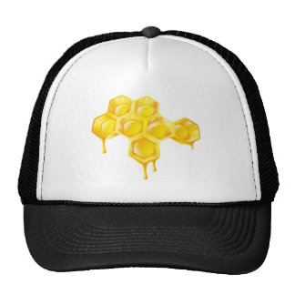 Honeycomb with dripping honey trucker hat