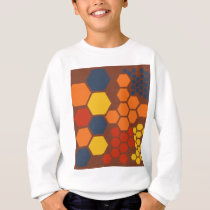 Honeycombs on Golden Brown Pattern Sweatshirt