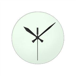 Honeydew White Round Clock