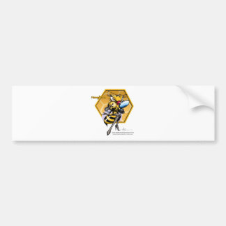HONEYLICIOUS Honeycomb Bumper Sticker