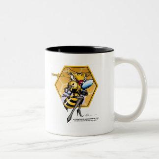 HONEYLICIOUS Honeycomb Two-Tone Coffee Mug