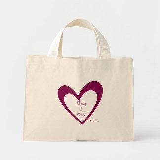 Honeymoon bag- Purple Heart Mini Tote Bag