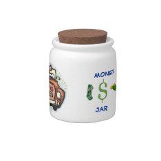 HONEYMOON BANK MONEY JAR TEMPLATE CANDY JAR at Zazzle