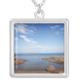 Honeymoon Bay, Coles Bay, Freycinet National Silver Plated Necklace