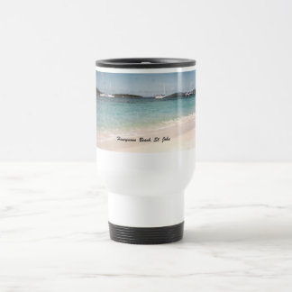 Honeymoon Beach, St. John Travel Mug
