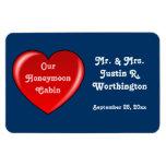 Honeymoon Cabin Blue Cruise Door Marker Rectangular Photo Magnet