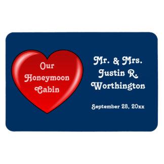 Honeymoon Cabin Custom Cruise Door Marker Rectangular Photo Magnet