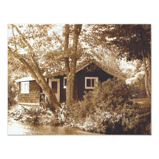Honeymoon cottage personalized invite