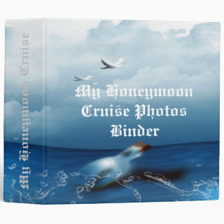 "Honeymoon Cruise Photos Message In a Bottle 1.5"" B 3 Ring Binders"