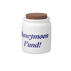 Honeymoon Fund Jar Candy Jar at Zazzle