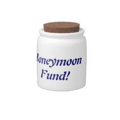 Honeymoon Fund Jar Candy Jar at Zazzle