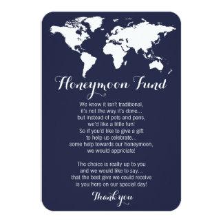 Honeymoon fund request wedding editable color card