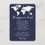 """Honeymoon fund request wedding editable color enclosure card<br><div class=""""desc"""">Honeymoon fund request wedding insert card. Editable background color,  click on """"customize"""" and pick the color you like.</div>"""
