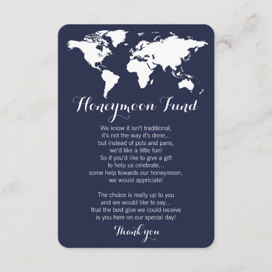 honeymoon fund request wedding editable color enclosure