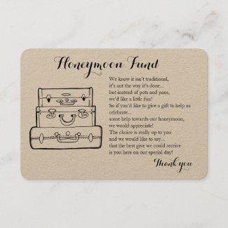 Honeymoon fund request wedding insert card