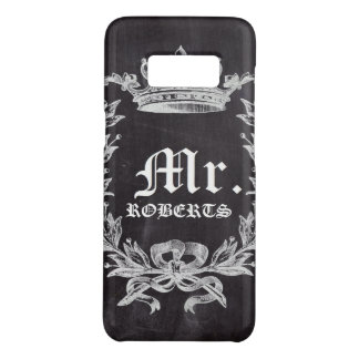 Honeymoon Groom chalkboard wedding Mr Case-Mate Samsung Galaxy S8 Case