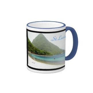 honeymoon, honeymoon, St Lucia, St Lucia Ringer Coffee Mug