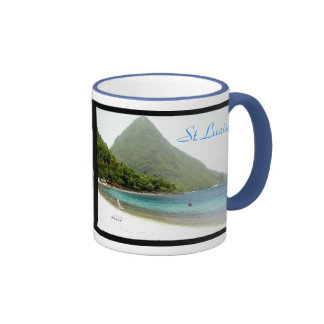 honeymoon, honeymoon, St Lucia, St Lucia Ringer Mug