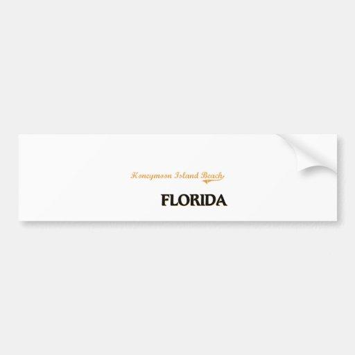 Honeymoon Island Beach Florida Classic Bumper Stickers
