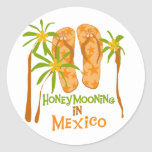 Honeymoon Mexico Tshirts and Gifts Classic Round Sticker