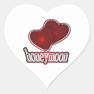 Honeymoon Calcomania Corazon