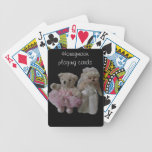 Honeymoon playing cards.