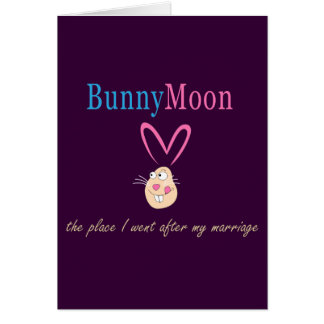Honeymoon Rabbit Card