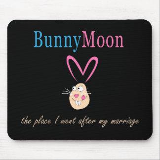 Honeymoon Rabbit Mouse Pad
