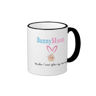 Honeymoon Rabbit Ringer Coffee Mug