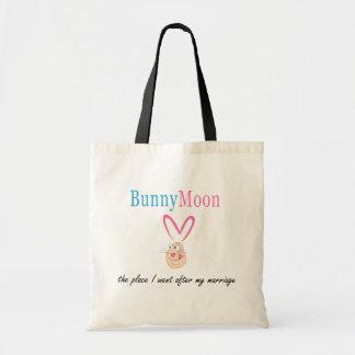 Honeymoon Rabbit Tote Bag