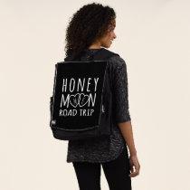 Honeymoon Road Trip Chalkboard Wedding Bold Face Backpack