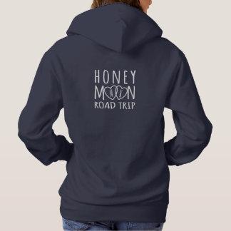 Honeymoon Road Trip Hoodie 2 Hearts Monogram