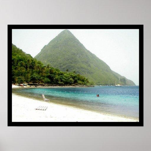 honeymoon, St Lucia Print